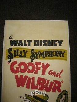 Walt Disney Silly Symphony Goofy And Wilbur Long Daybill