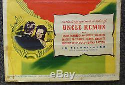 Walt Disney Song Of The South 1946 Original Insert Movie Very Rare