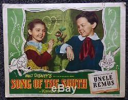 Walt Disney Song Of The South Original 1946 Lobby Card #7 Very Rare