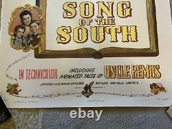 Walt Disney Song Of The South Original Linen Back Splash Mountain Movie Poster
