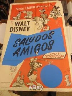 Walt Disney Summerfest Saludos Amigos 1953 27x41 One-Sheet Movie Poster #N1378