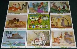 Walt Disney The Jungle Book R 1978 Original Movie Lobby Card Set Of 9 Mowgli
