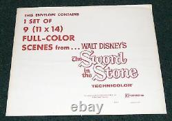 Walt Disney The Sword In The Stone Original R 1973 Lobby Card Set Of 9