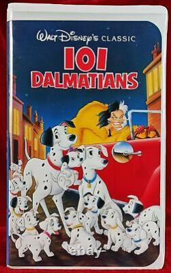 Walt Disney's 101 Dalmatians Black Diamond The Classics Collection (VHS, 1992)