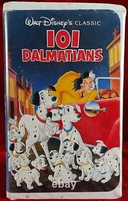 Walt Disney's 101 Dalmatians The Classics Collection Black Diamond VHS 1992 Rare