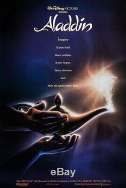 Walt Disney's ALADDIN 1992 Advance Teaser DS 2 Sided 27x40 US Movie Poster