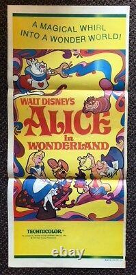 Walt Disney's ALICE IN WONDERLAND (1951) Australian Daybill Great Art & Colors