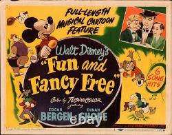 Walt Disney's Fun anf Fancy Free 1947 Original Title Lobby Card Edgar Bergen