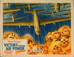 Walt Disney's Victory through Air Power 1943 Original Lobby Card