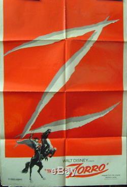 Walt Disney (zorro)original Vintage Movie Poster (classic)
