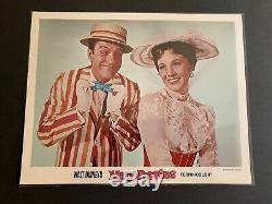 Walt Disneys 1964 Mary Poppins 11 by 14 Lobby Cards Set of 9
