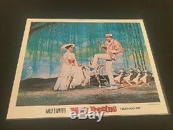 Walt Disneys 1964 Mary Poppins 11 by 14 Lobby Cards Set of 9 With Sleeve
