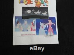 Walt Disneys' Cinderella (1950) Re-release 1979 14x36 Movie Poster NEVER ROLLED