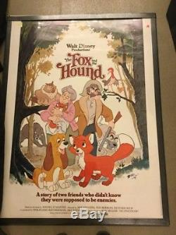 Walt Disneys Fox And The Hound 1981 Original Rolled Movie Poster