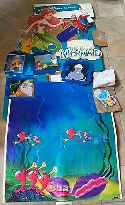Walt Disneys Little Mermaid POP Pre-Release VHS Movie 8ft Standee Kit New RARE