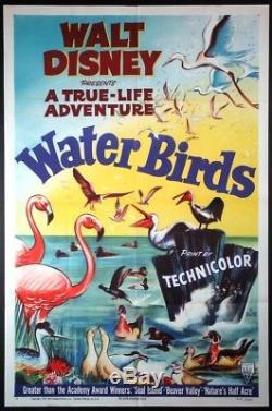 Water Birds Oscar-winning Walt Disney Adventure Short 1952 1-sheet
