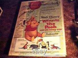 Winnie Pooh & Honey Tree Os Poster'66 Disney 1st Pooh