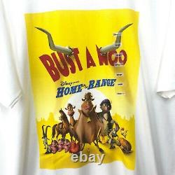 Y2K Disney Home on the Range Movie Promo T-Shirt Men's Size L/XL Bust a Moo NWT