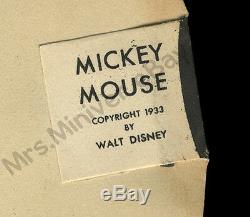 1933 Mickey Mouse Et Par-affiche T-masque! 1-of-a-kind Walt Disney Store Display