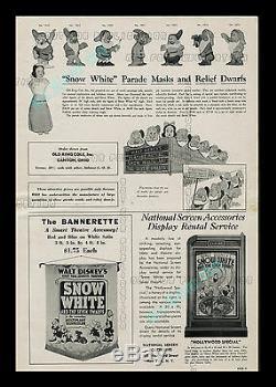 1938 Blanche-neige Et Les Sept Nains Walt Disney Livre De La Campagne Avec Herald