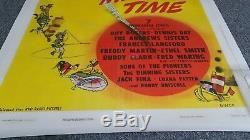 1948 Walt Disney Melody Time 1 Feuille D'animation Film Soutenue Par Du Lin