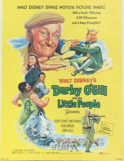 1959 Litho Walt Disney Darby O'gill And The Little People Window Card 14 X 22