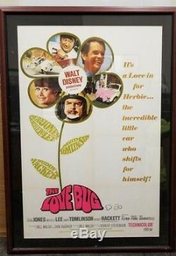 1968 La Production Walt Disney The Love Bug Rare Vintage Originale Une Feuille