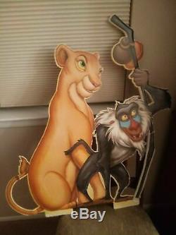 1994 Disney Le Roi Lion Cinéma Hall Standee Affichage Découpes Set De 4