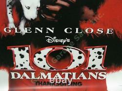 1996 Disney 101 Dalmatians Original Film Abri D'autobus Affiche Cruella Glenn Close