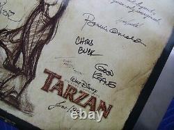 1999 Walt Disney Tarzan Animation Movie Poster Director & Crew Signed 2 Sided