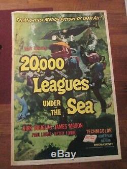 20 000 Lieues Sous Les Mers Affiche De Cinéma Originale 40 X 60 Walt Disney