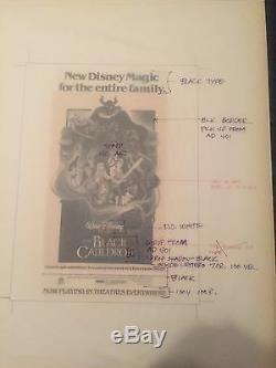 4 Disney The Black Cauldron Impression Anti-développement Corrections