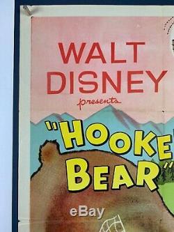 Accro Ours Affiche Du Film (fine-) Une Feuille 1956 Walt Disney Smokey L'ours