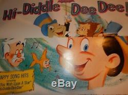 Affiche Authentique Pinocchio Disney R62 / 1 Sortie 27''x41''new De Condition1962