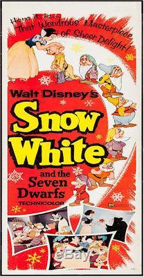 Affiche Blanche De Film De Neige De Disney Et De Sept Nains De Disney