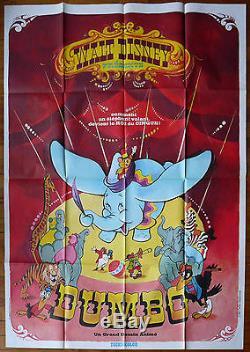 Affiche De Cinéma Française 47x63 Dumbo Walt Disney R70