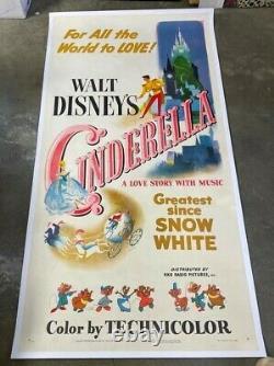 Affiche De Cinéma Originale De Cendrillon Disney 1950 Hollywood Posters