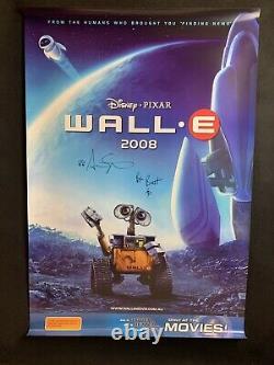 Affiche De Cinéma Wall-e Australian One Sheet Signée À La Main Walt Disney Pixar Animation