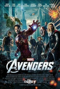 Affiche De Film Rare Originale Des Avengers 27 X 40 Une Feuille Recto-verso Disney Ds