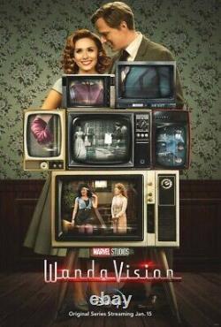Affiche De Paiement Wandavision Disney+ 27x40 D'origine Américaine D/s Double Face Une Feuille