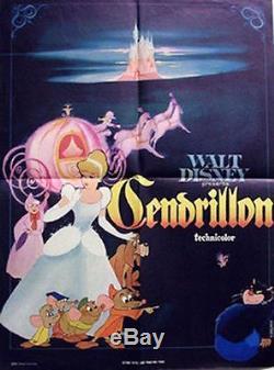 Affiche Du Film Cinderella French Grande 47x63 R67 Walt Disney Nm
