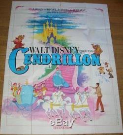 Affiche Du Film Cinderella French Grande 47x63 R78 Walt Disney Nm