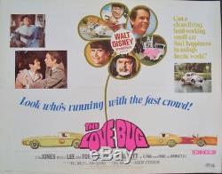 Affiche Du Film Demi-feuille 22x28 Herbie Dean Jones Disney 1969 Rare