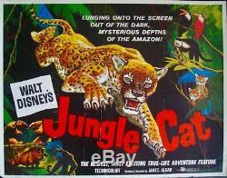 Affiche Du Film Demi-feuille Jungle Cat 22x28 Documentaire Sur L'animal 1960