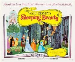 Affiche Du Film Demi-feuille Sleeping Beauty 22x28 R70 Walt Disney Nm