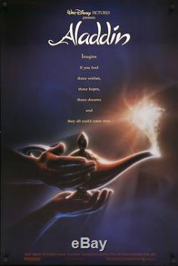 Affiche Du Film Ds Aladdin Originale D / S 27x41 Disney Animation Adv John Alvin