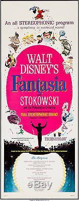 Affiche Du Film Fantasia Insert 1940 (1963) 14x36 Vf 8.0 Walt Disney