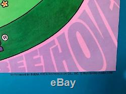 Affiche Originale De Film Fantasia (r1970, Walt Disney) 27 X 41 Vg / Ex