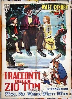 Affiche Originale De Film Italien Mélodie Du Sud Walt Disney Chef D'oeuvre Première Édition