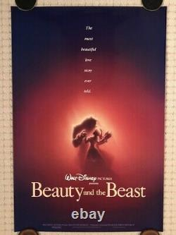 Affiche Originale Disney Beauty And The Beest 1991 Ds Adv Theatrical (numérotée)